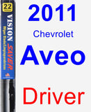 Driver Wiper Blade for 2011 Chevrolet Aveo - Vision Saver