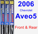 Front & Rear Wiper Blade Pack for 2006 Chevrolet Aveo5 - Vision Saver