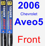 Front Wiper Blade Pack for 2006 Chevrolet Aveo5 - Vision Saver