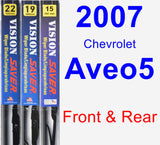 Front & Rear Wiper Blade Pack for 2007 Chevrolet Aveo5 - Vision Saver