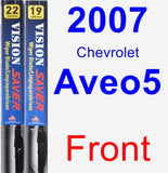 Front Wiper Blade Pack for 2007 Chevrolet Aveo5 - Vision Saver