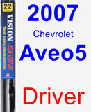Driver Wiper Blade for 2007 Chevrolet Aveo5 - Vision Saver