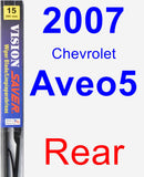 Rear Wiper Blade for 2007 Chevrolet Aveo5 - Vision Saver