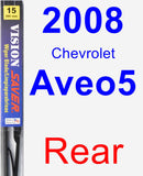 Rear Wiper Blade for 2008 Chevrolet Aveo5 - Vision Saver
