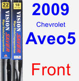 Front Wiper Blade Pack for 2009 Chevrolet Aveo5 - Vision Saver