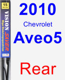 Rear Wiper Blade for 2010 Chevrolet Aveo5 - Vision Saver