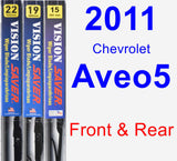 Front & Rear Wiper Blade Pack for 2011 Chevrolet Aveo5 - Vision Saver