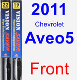 Front Wiper Blade Pack for 2011 Chevrolet Aveo5 - Vision Saver