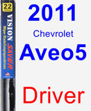 Driver Wiper Blade for 2011 Chevrolet Aveo5 - Vision Saver