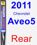 Rear Wiper Blade for 2011 Chevrolet Aveo5 - Vision Saver