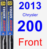 Front Wiper Blade Pack for 2013 Chrysler 200 - Vision Saver
