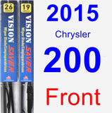 Front Wiper Blade Pack for 2015 Chrysler 200 - Vision Saver
