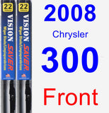 Front Wiper Blade Pack for 2008 Chrysler 300 - Vision Saver