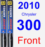 Front Wiper Blade Pack for 2010 Chrysler 300 - Vision Saver