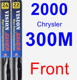 Front Wiper Blade Pack for 2000 Chrysler 300M - Vision Saver