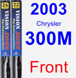Front Wiper Blade Pack for 2003 Chrysler 300M - Vision Saver