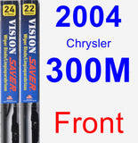 Front Wiper Blade Pack for 2004 Chrysler 300M - Vision Saver