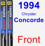 Front Wiper Blade Pack for 1994 Chrysler Concorde - Vision Saver