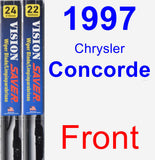 Front Wiper Blade Pack for 1997 Chrysler Concorde - Vision Saver
