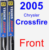 Front Wiper Blade Pack for 2005 Chrysler Crossfire - Vision Saver