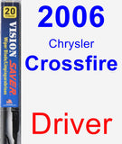 Driver Wiper Blade for 2006 Chrysler Crossfire - Vision Saver