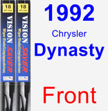 Front Wiper Blade Pack for 1992 Chrysler Dynasty - Vision Saver