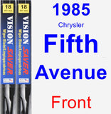 Front Wiper Blade Pack for 1985 Chrysler Fifth Avenue - Vision Saver
