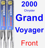 Front Wiper Blade Pack for 2000 Chrysler Grand Voyager - Vision Saver