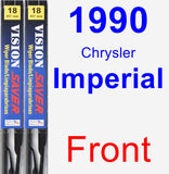 Front Wiper Blade Pack for 1990 Chrysler Imperial - Vision Saver