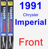 Front Wiper Blade Pack for 1991 Chrysler Imperial - Vision Saver