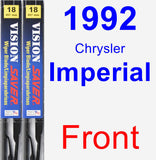 Front Wiper Blade Pack for 1992 Chrysler Imperial - Vision Saver