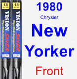Front Wiper Blade Pack for 1980 Chrysler New Yorker - Vision Saver