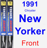 Front Wiper Blade Pack for 1991 Chrysler New Yorker - Vision Saver
