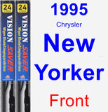 Front Wiper Blade Pack for 1995 Chrysler New Yorker - Vision Saver