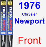 Front Wiper Blade Pack for 1976 Chrysler Newport - Vision Saver