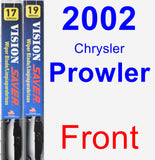 Front Wiper Blade Pack for 2002 Chrysler Prowler - Vision Saver