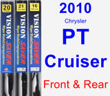 Front & Rear Wiper Blade Pack for 2010 Chrysler PT Cruiser - Vision Saver