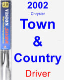 Driver Wiper Blade for 2002 Chrysler Town & Country - Vision Saver