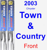 Front Wiper Blade Pack for 2003 Chrysler Town & Country - Vision Saver