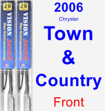 Front Wiper Blade Pack for 2006 Chrysler Town & Country - Vision Saver