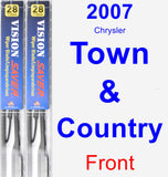 Front Wiper Blade Pack for 2007 Chrysler Town & Country - Vision Saver