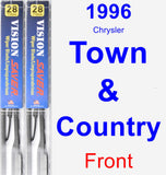 Front Wiper Blade Pack for 1996 Chrysler Town & Country - Vision Saver