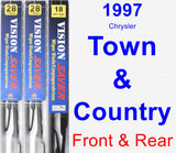 Front & Rear Wiper Blade Pack for 1997 Chrysler Town & Country - Vision Saver