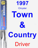 Driver Wiper Blade for 1997 Chrysler Town & Country - Vision Saver