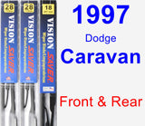 Front & Rear Wiper Blade Pack for 1997 Dodge Caravan - Vision Saver