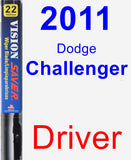 Driver Wiper Blade for 2011 Dodge Challenger - Vision Saver