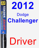 Driver Wiper Blade for 2012 Dodge Challenger - Vision Saver