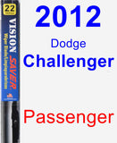 Passenger Wiper Blade for 2012 Dodge Challenger - Vision Saver