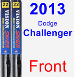 Front Wiper Blade Pack for 2013 Dodge Challenger - Vision Saver