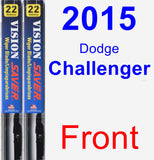 Front Wiper Blade Pack for 2015 Dodge Challenger - Vision Saver
